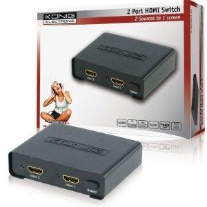 2 väylä HDMI kytkin