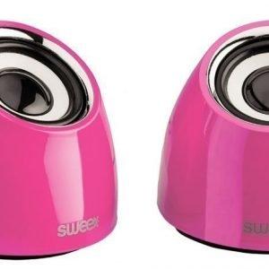 2.0-kaiutinsarja USB-virranotto 2x 3W kannettava vaaleanpunainen