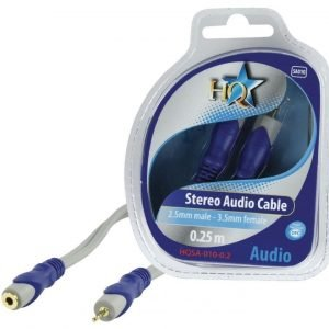 2.5mm stereo uros - 3.5mm stereo naaras johto 0.20 m