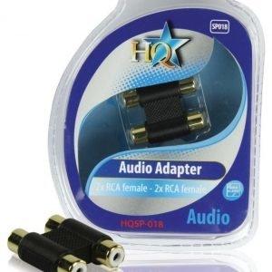 2x RCA naaras - 2x RCA naaras adapteri