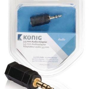 3 5 mm:n audiosovitin 3 5 mm:n urosliitin - 2 5 mm:n naarasliitin 1 kpl harmaa