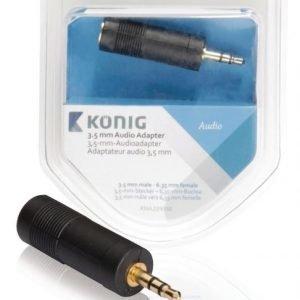 3 5 mm:n audiosovitin 3 5 mm:n urosliitin - 6 35 mm:n naarasliitin 1 kpl harmaa