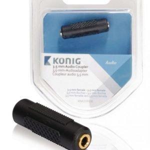 3 5 mm:n audiosovitinkappale 3 5 mm:n naarasliitin - naarasliitin 1 kpl harmaa