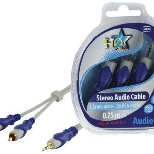 3.5mm stereo uros - 2x RCA uros johto 0.70 m