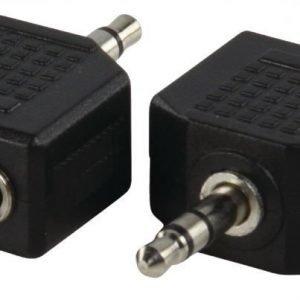 3.5mm uros - 2x 3.5mm naaras adapteri
