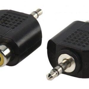 3.5mm uros - 2x RCA naaras adapteri