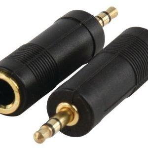 3.5mm uros - 6.35mm naaras adapteri