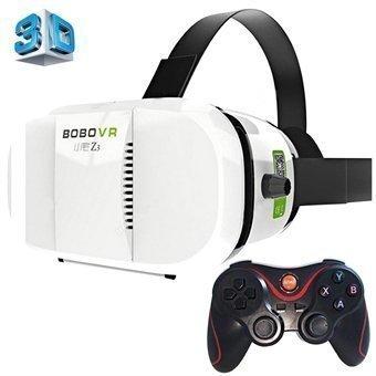 3D VR Bluetooth Lasit + Gamepad 4-6'' näyttö