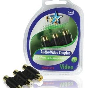 3x RCA naaras - 3x RCA naaras adapteri