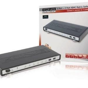 4 väylä - 2 väylä HDMI matrix kytkin