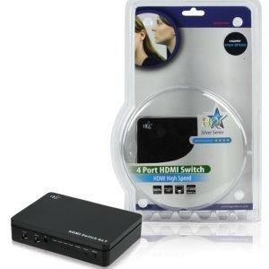 4 väylä HDMI kytkin 3D tuki