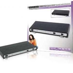 4 väylä high speed HDMI kytkin ethernet ja audio paluukanava
