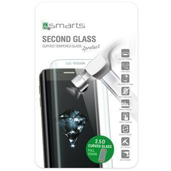 4smarts Second Glass Curved 2.5D iPhone 6/6S Musta