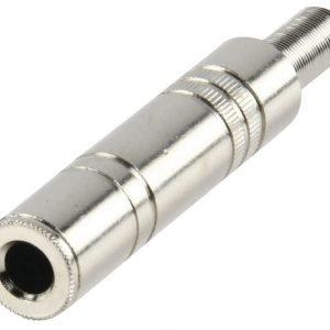 6.35 mm metallinen mono plugi naaras