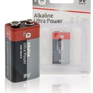 9 V -alkaliparisto 1 kpl läpipainopakkaus