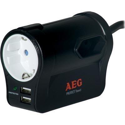 AEG PROTECT Travel ylijännitesuoja 1xCEE 7/7-liitos