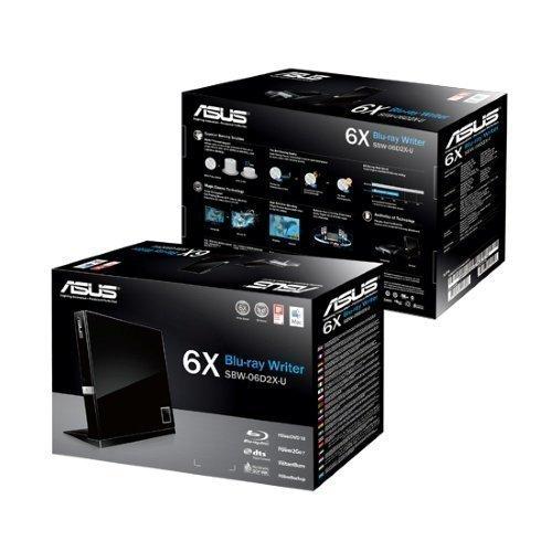 ASUS SBW-06D2X-U BLU-RAY WRITER 6X BD-R USB 2.0
