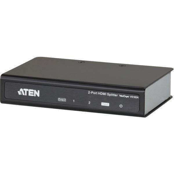 ATEN 2-porttinen HDMI-jakaja 1- 2 näytölle UHD 1080p 3D mu