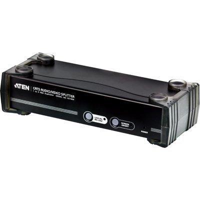 ATEN A/V-jakaja 1 > 4 näyttöön Cat5e kaapelissa VGA DB9 3 5mm ääni