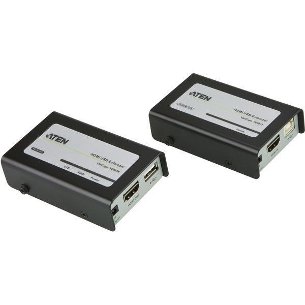 ATEN HDMI ja USB-jatke Ethernet-kaapeliin 3D 60m HDCP musta