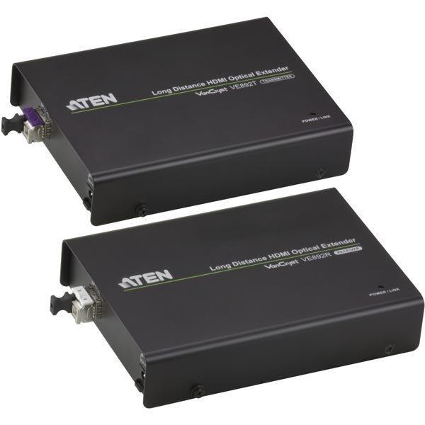 ATEN HDMI-jatke 20km 19-pin na RS-232 LC Simplex musta