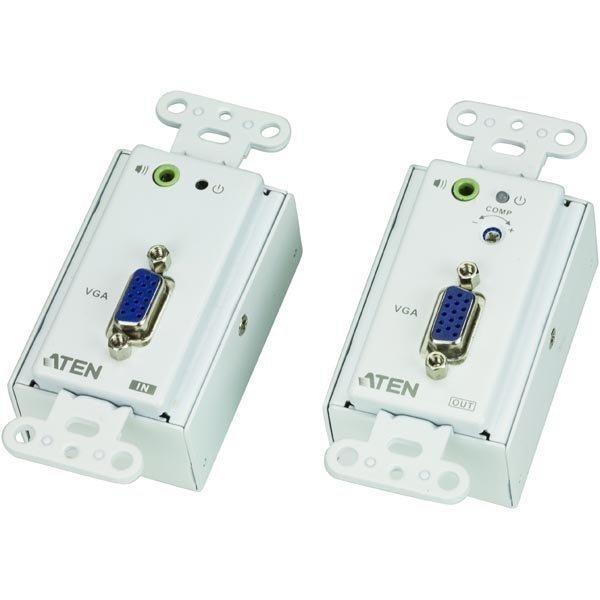 ATEN VE156 VGA ja audiojatke Ethernet kaapelissa jopa 150m valk