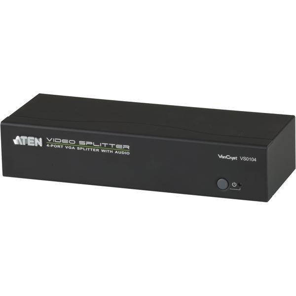 ATEN VGA-jakaja 1 laite 4 näytölle VGA/ääni 450MHz 65m mu