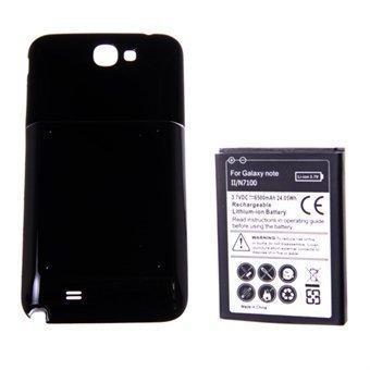 Akku mallille Samsung Galaxy Note 2 + takakuori