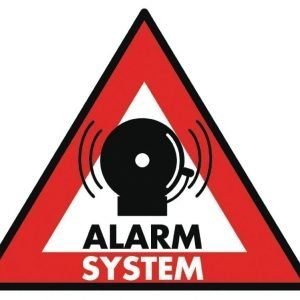 Alarm system -tarra 123 x 148 mm