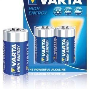 Alkaliparistot C/LR14 1.5 V High Energy 2-blisteri