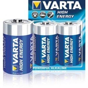 Alkaliparistot D/LR20 1.5 V High Energy 2-blisteri