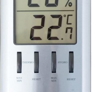 Alumiininen lämpö- ja kosteusmittari