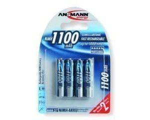 Ansmann ladattavia AAA 1100mah paristoja