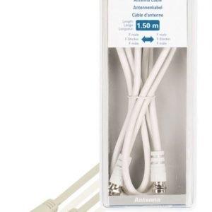 Antennikaapeli F-uros - F-uros 1 50 m valkoinen