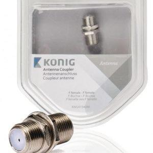 Antennisovitinkappale F-naarasliitin - naaras 1 kpl metalli