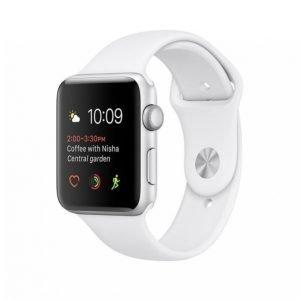 Apple Watch Series 1 Älykello 42mm Hopea / Valkoinen