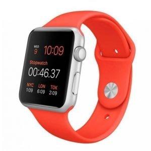 Apple Watch Sport 42 Mm Hopea / Oranssi