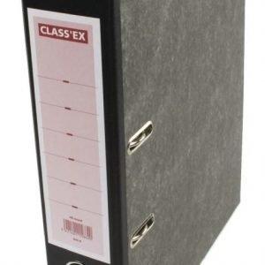 Arkistomappi 8cm back musta