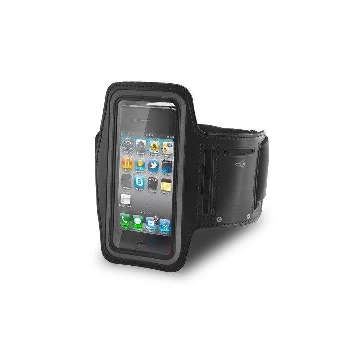 Arm Case iPhone 3 ja 4 Käsikotelo - Laadukasta Keinonahkaa - Musta