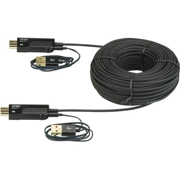 Aten aktiivinen optinen HDMI kaapeli HDMI 1.3 ur-ur 4K 15m musta