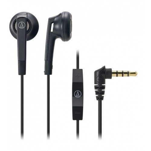 Audio-Technica ATH-C505i Earbuds with Mic3 for iPhone Black