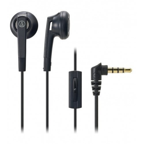 Audio-Technica ATH-C505iS Earbuds with Mic1 Black