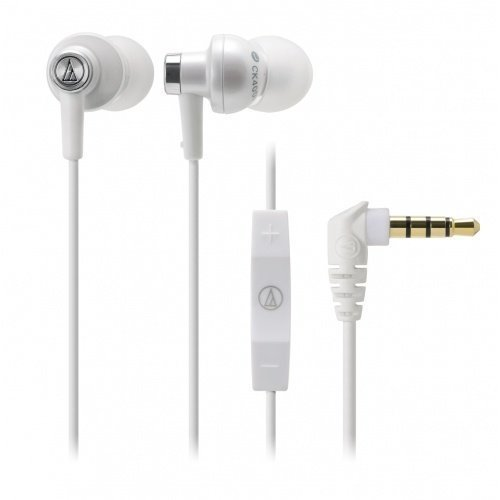 Audio-Technica ATH-CK400i In-Ear with Mic3 for iPhone White