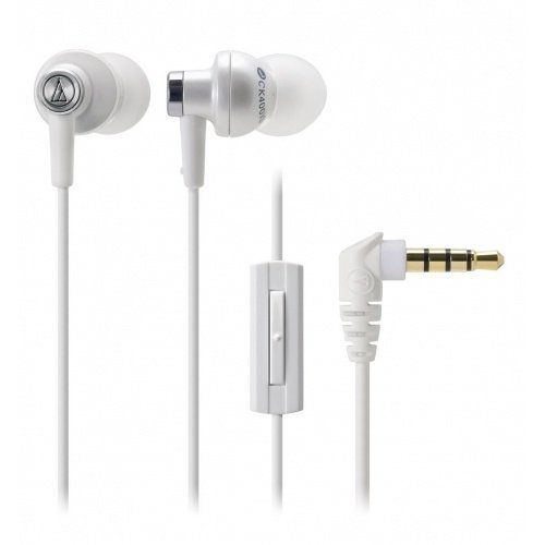 Audio-Technica ATH-CK400iS In-Ear with Mic1 White