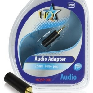 Audioliitin 2.5mm uros