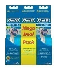 BRAUN VAIHTOHARJA ORAL-B - PRECISION CLEAN 6 MEGA PACK! Paketissa 6 harjaa! KAMPANJA PAKETTI! (3x2kpl)