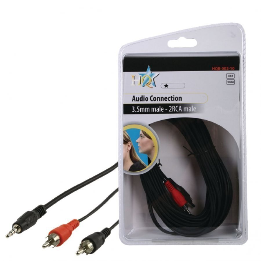 Basic audio johto 3.5mm uros - 2x RCA uros 10.0 m
