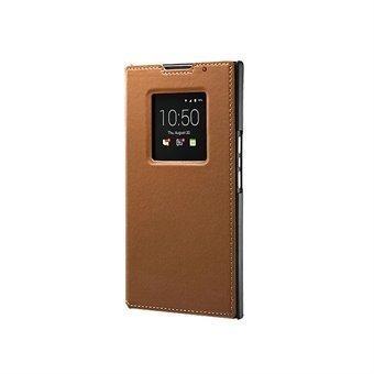 BlackBerry Flip Cover Kotelo Priv Ruskea