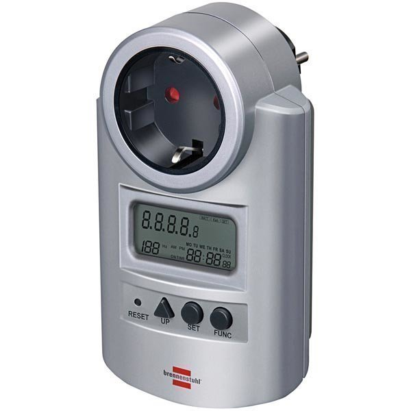 Brennenstuhl sähkömittari virrankulutusmittari voltti/watti hopea