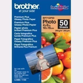Brother 10x15cm Glossy Inkjet Photopapir 260g (50)